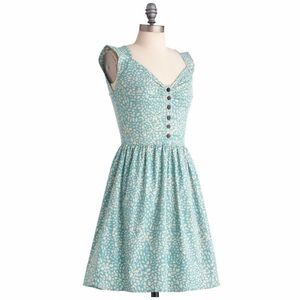 ModCloth vintage teal dress